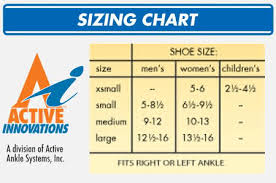 Active Ankle T2 Size Chart Active Ankle T2 Size Chart Best Picture Of Chart Anyimage Org