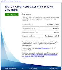fake citibank credit card statement