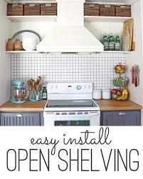 Storage Solution Simple Open Kitchen Shelves