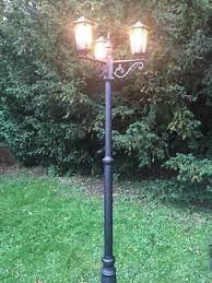 modern 2x garden lamp post lantern