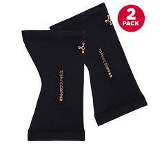 Tommie Copper Core Compression Set Of 2 Knee Sleeves Qvc Com