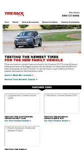 Tire Rack Review Chart Testing The Newest Tires For The New Family Vehicle Tire