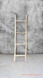 Decoratieve Naturel Houten Ladder Van Acacia Hout Voor Je Interieur