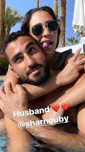 محمد الشرنوبى مع زوجته فى صورة جديدة من شهر العسل - اليوم السابع