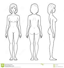 female body outline template images for female human body outline front and back things to