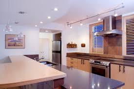 image of modern track lighting in kitchen