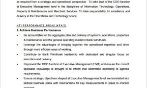 10+ Chief Operating Officer Job Description Templates – Free Sample ...