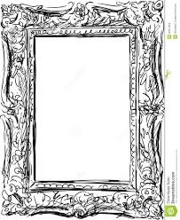 Antique frame drawing Tattoo Flash Vector Drawing Of Ancient Frame In Baroque Style Dreamstimecom Vintage Frame Stock Vector Illustration Of Isolated 32817852