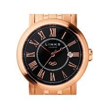 richmond mens rose gold plate black dial bracelet watch men richmond mens rose gold plate black dial bracelet watch