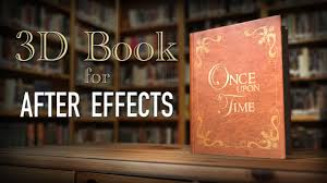 3d book storybook intro after effects