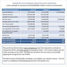 Pro Forma Balance Sheet 8 Free Excel Pdf Documents