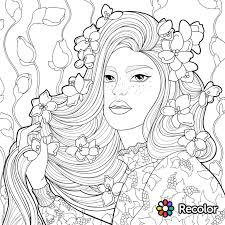 Recolor Coloring Pages Adult Hair Nazly Me 15361536 Attachment