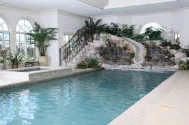 indoor pool with slide home. Indoor Swiming Pool Design With Slides Slide Home A