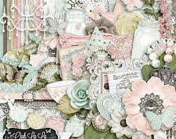 On Sale 50% Off Shabby Chic,Digital Scrapbook Kit, Scrapbooking