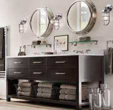 Unusual Bathroom Mirrors Unusual Industrial Round Bathroom Mirror Ideas For Traditional