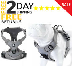 Details About Zipline Harness For Dog Large Reflective No Pull Two Leash Handle Easy Control