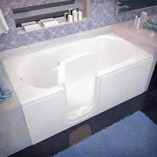 spa world venzi vz3060silws rectangular soaking walk in bathtub 30 60 left drain