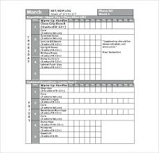 Workout Log Template Advanced Templates Helenamontana Info