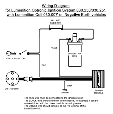 lumenition optronic ignition system for vintage classic cars view print technical drawing