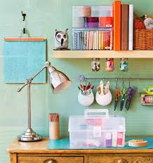 colorful home office. Delighful Home Colorful Home Office Craft Space On O