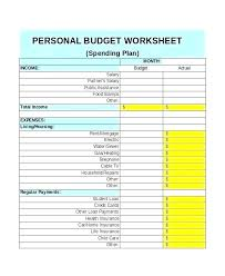 Personal Monthly Budget Spreadsheet Free Personal Monthly Budget Template For Excel Daily Spending Form