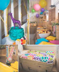 Korean Themed Party Decorations Karas Party Ideas Wild Child Safari Girl Boy Animal 3rd Birthday