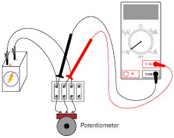 potentiometer as a voltage divider dc circuits electronics illustration