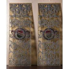 leaded glass panels pair antique leaded glass panels repair leaded glass door panel