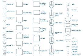 process flow diagram symbols design elements vessels vessel symbols water surface vessel drum pressure vessel tray solid