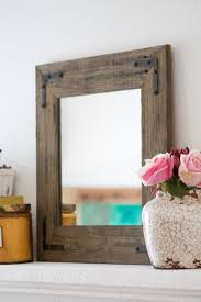 Mirror With Wood Frame Design Mirror Wall Mirror Bathroom Mirror Rustic Wood Mirror