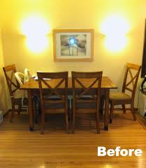Against The Wall Dining Table Dining Set Makeover Plastic Plate Wall Classy Clutter