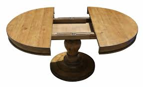 Round Table Pedestal Westport Round Reclaimed Wood Extension Pedestal Table Mortise