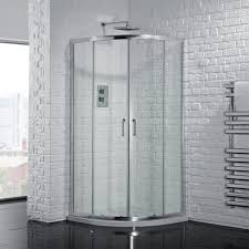 Brilliant Curved Shower Enclosures Uk Aquadart Venturi 6 Double Door Intended Decor