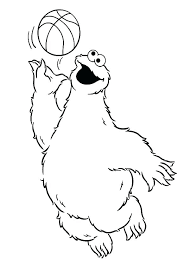 Cookie Monster Coloring Pages Free Royaltyhairstorecom