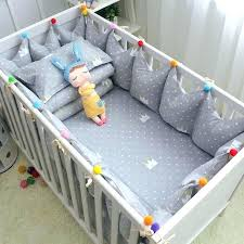 grey crib set grey nursery bedding set set cotton baby cot bedding set grey crown crib