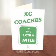 coach thank you card ideal card to thank your cross country and track coaches for