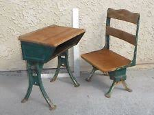antique school desk chair. Simple Antique Antique Vintage Childs School Desk And Chair Industrial Table Legs Very  Rare  For E