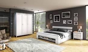 Schlafzimmer Schlafzimmer Set Bett Schrank Kiefer Weiß Landhaus