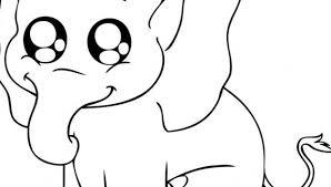 Baby Olifant Kleurplaat Schattige Dieren