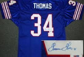 Buffalo Thurman Bills Thomas Autograph Jersey