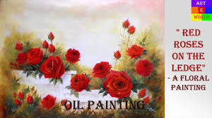 8 red roses 2 oil painting slide lessons beginners tips techniques art arteworld