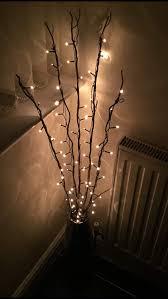 Christmas Branch Lights Twig 1 2m Light Twig With 80 Rice Lights Premier Christmas Lights Lv081487