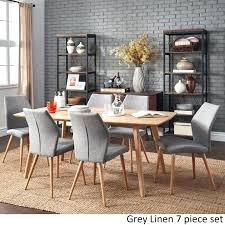 54 inch round dining table set and chairs with 6 kitchen comfortable exciting