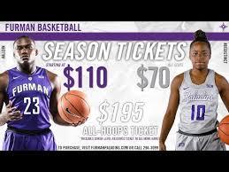 2018 19 Furman Basketball Season Tickets Youtube