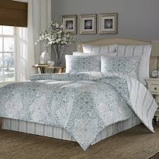 blue and white duvet cover queen with grey