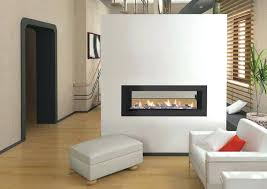 double door fireplace insert gorgeous two sided fireplaces for your spacious homes stone design