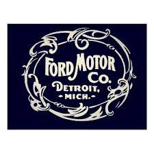 cool ford logos. vintage ford motor company detroit retro cool logo postcard logos l