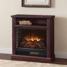 freestanding mobile infrared electric fireplace in cherry