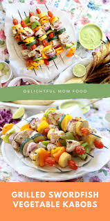Swordfish Kabobs Grilled With ...
