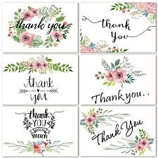 Thank You Cards 48 Count Floral Watercolor Thank You Notes Cards For Wedding Baby Shower Bridal Shower Anniversary 6 Design 4 X 6 Inch Blank Note